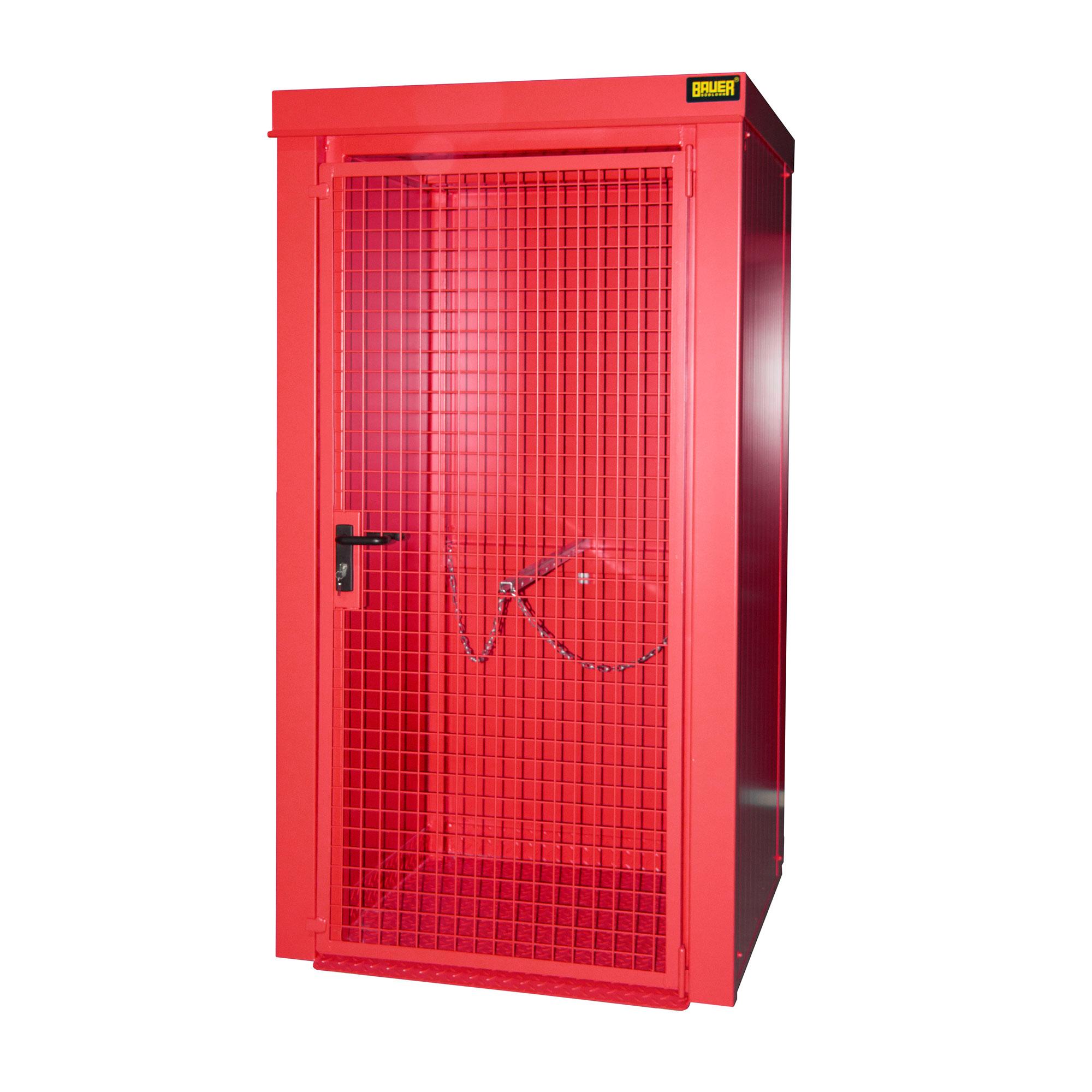 Bauer Gasflaschen-Container GFC-B M0, Feuerrot für 9x Gasflaschen Ø 230 mm 4477-30-0000-2