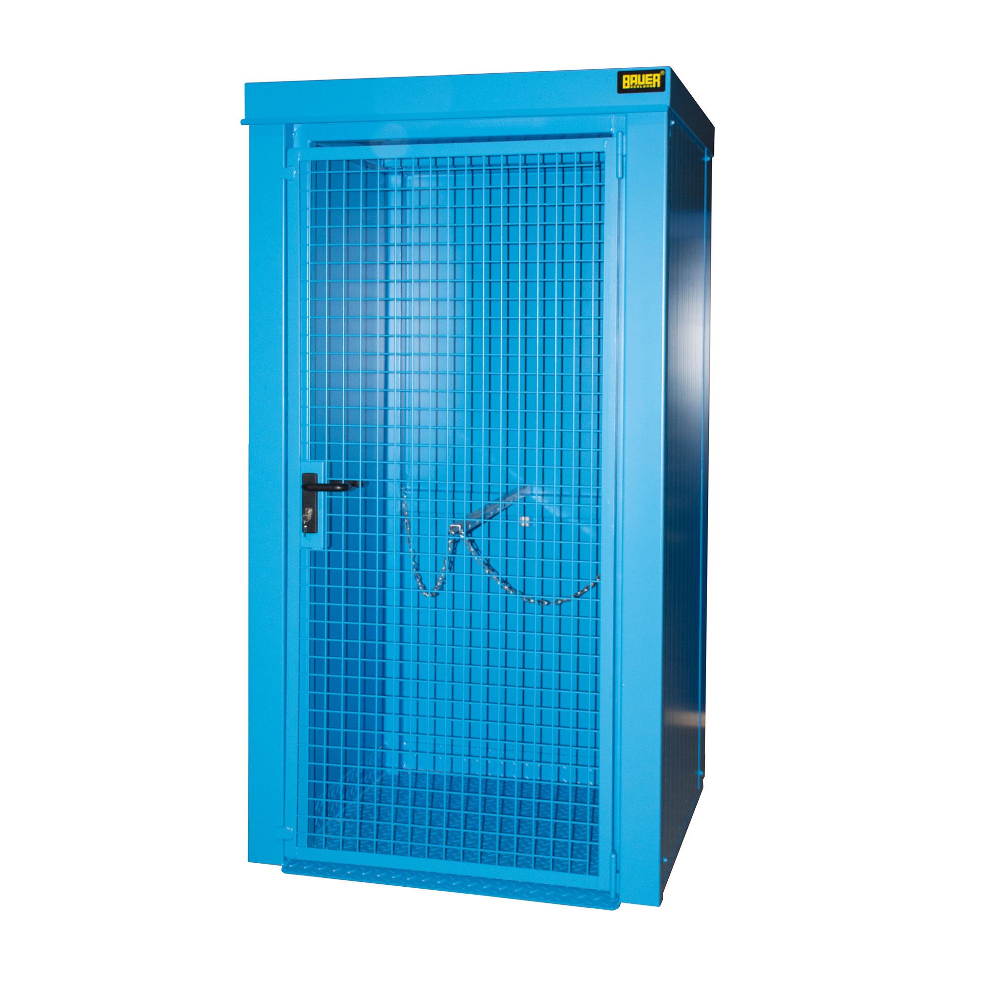 Bauer Gasflaschen-Container GFC-B M0, Lichtblau für 9x Gasflaschen Ø 230 mm 4477-30-0000-3