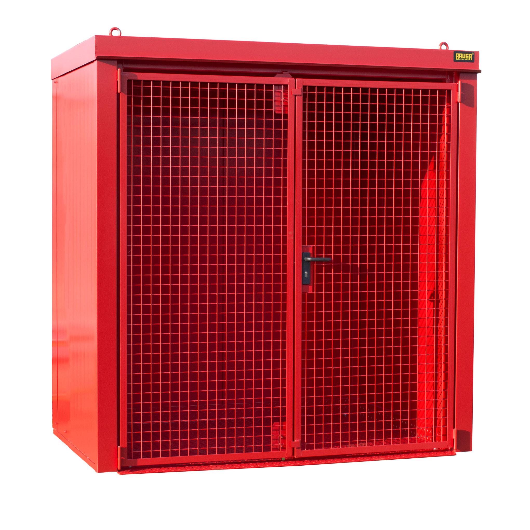 Bauer Gasflaschen-Container GFC-B M1, Feuerrot für 28x Gasflaschen Ø 230 mm 4477-31-0000-2