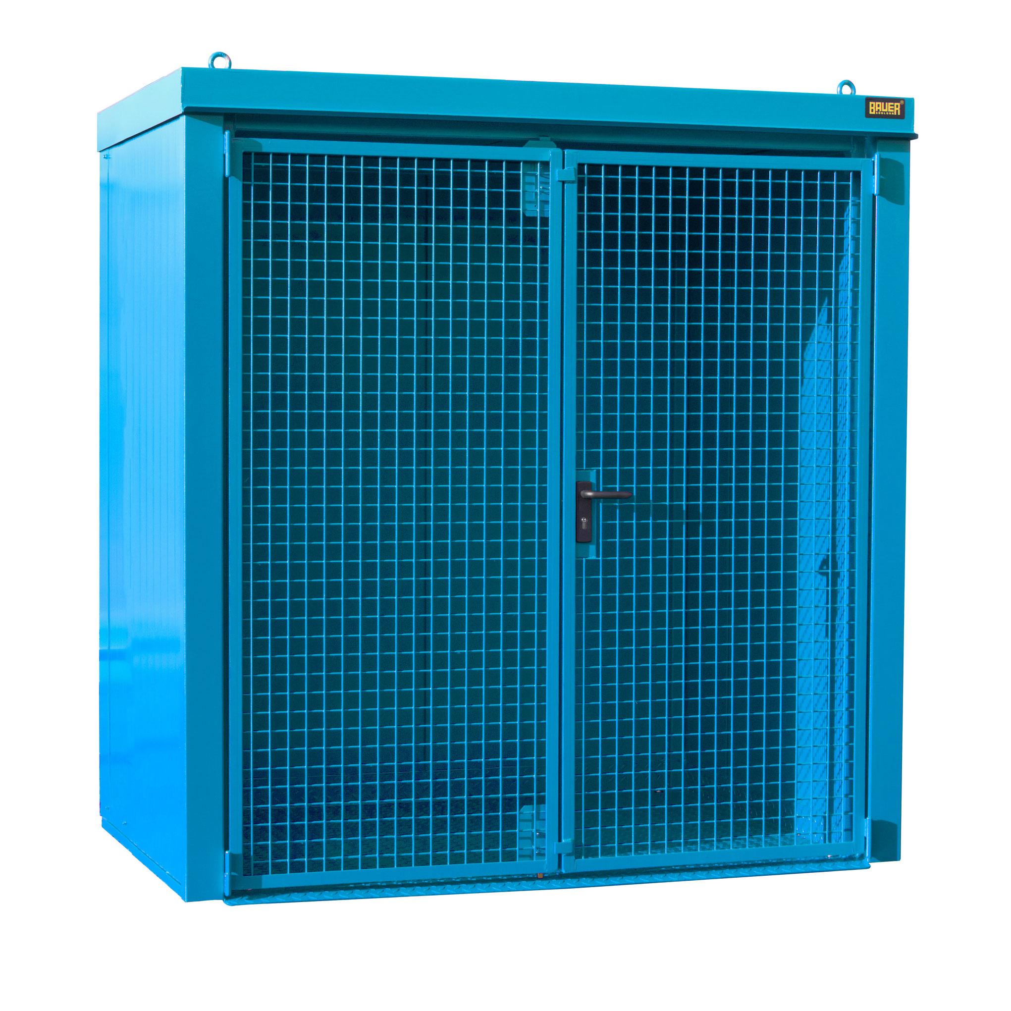 Bauer Gasflaschen-Container GFC-B M1, Lichtblau für 28x Gasflaschen Ø 230 mm 4477-31-0000-3