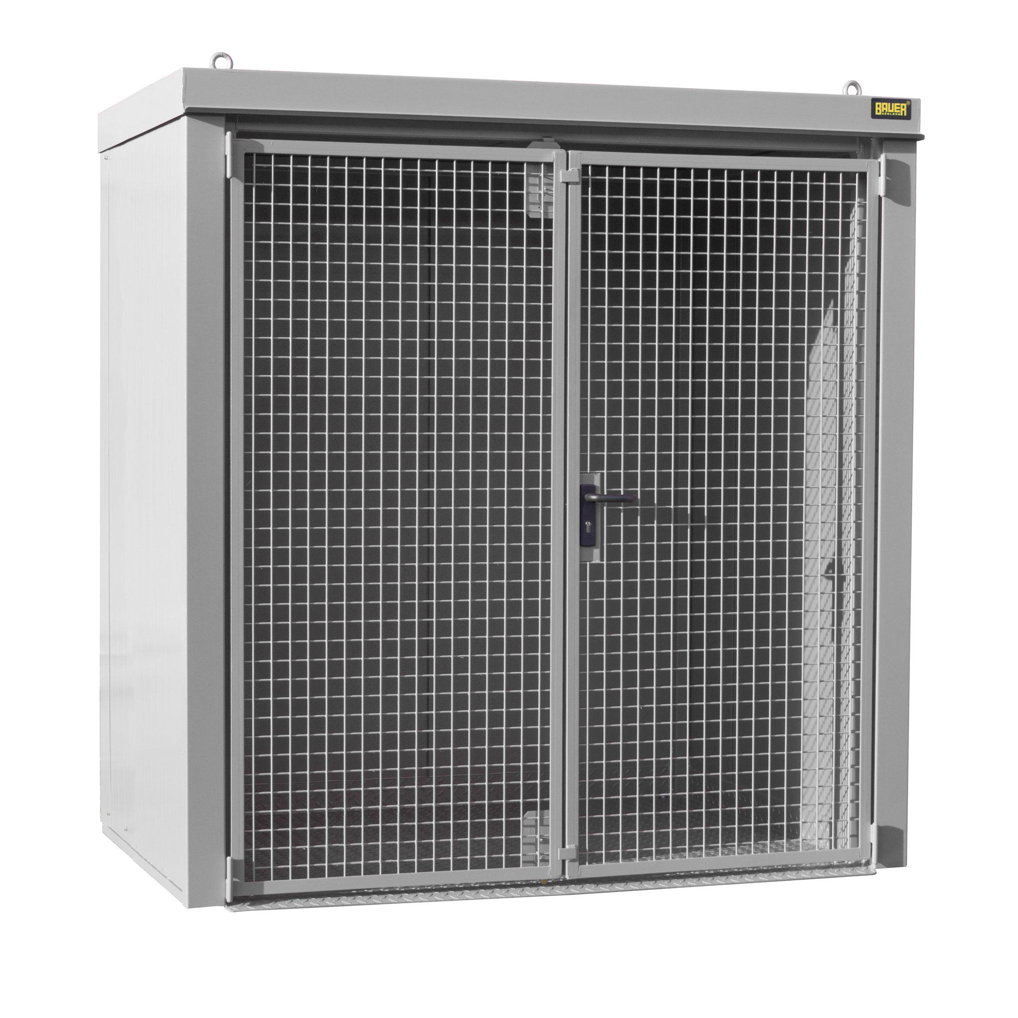 Bauer Gasflaschen-Container GFC-B M1, Mausgrau für 28x Gasflaschen Ø 230 mm 4477-31-0000-5