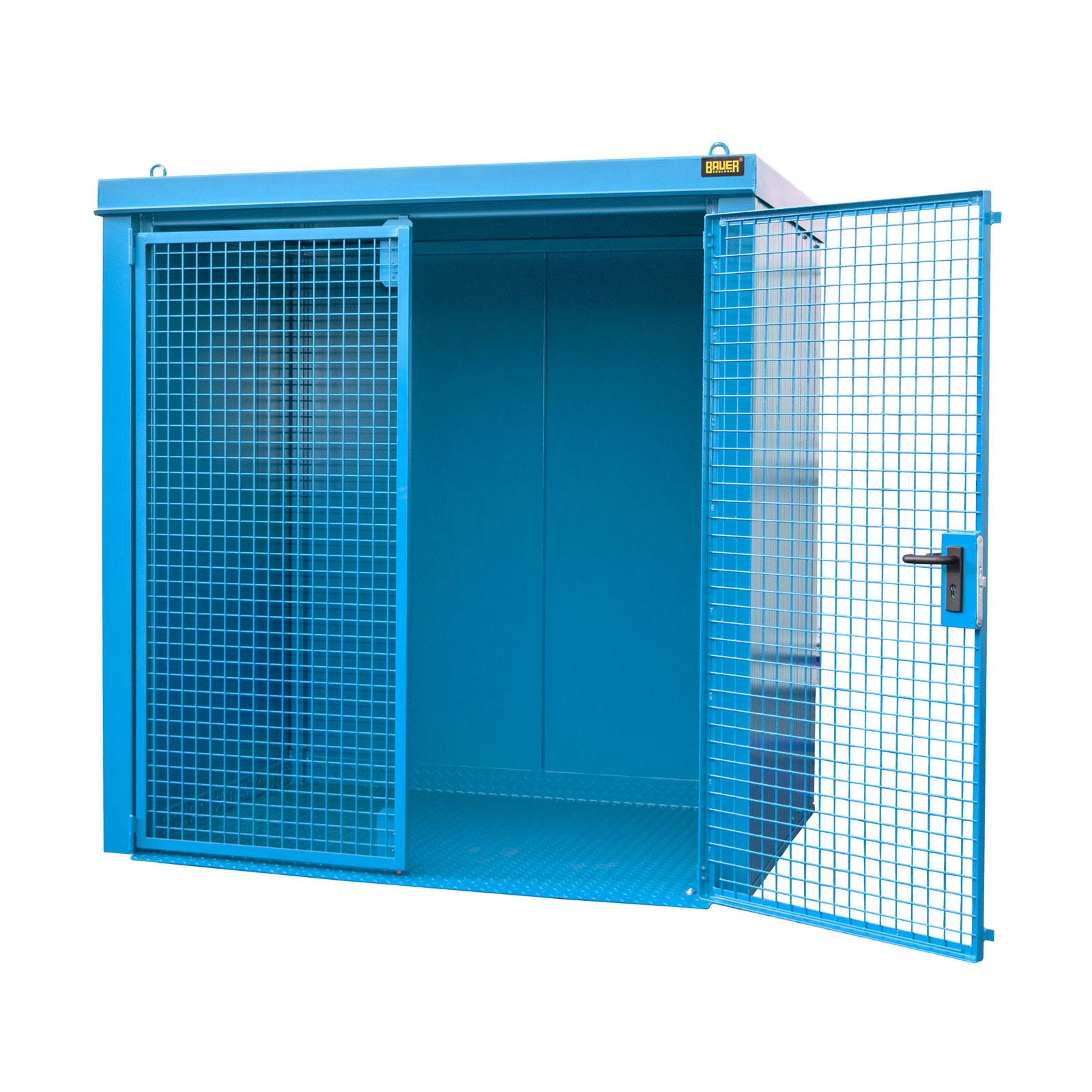 Bauer Gasflaschen-Container GFC-B M2, Lichtblau für 35x Gasflaschen Ø 230 mm 4477-32-0000-3