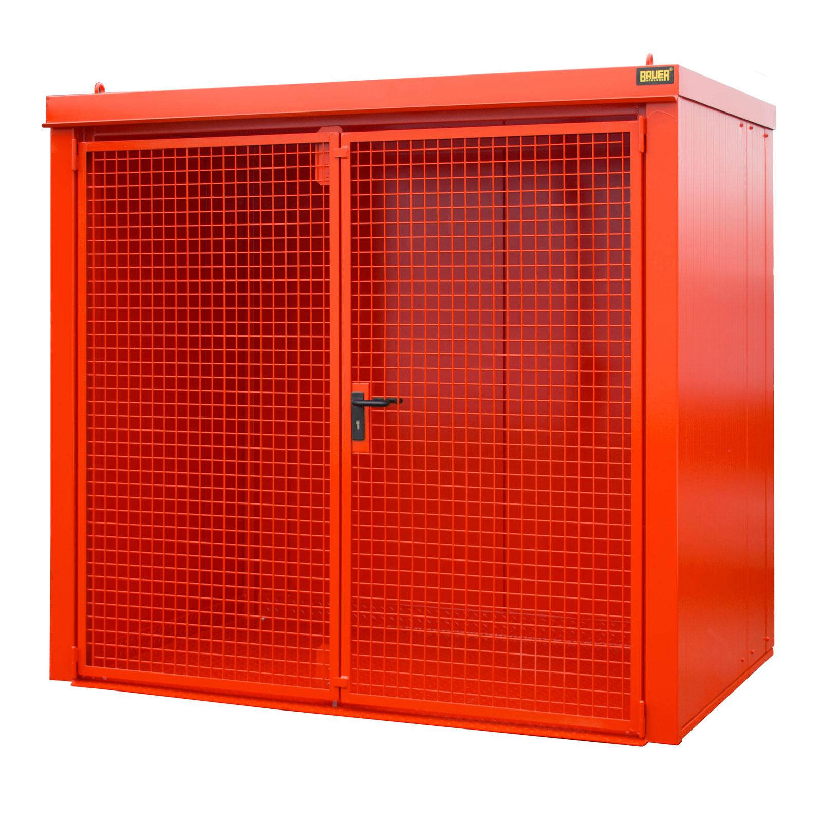 Bauer Gasflaschen-Container GFC-B M3, Feuerrot für 45x Gasflaschen Ø 230 mm 4477-33-0000-2