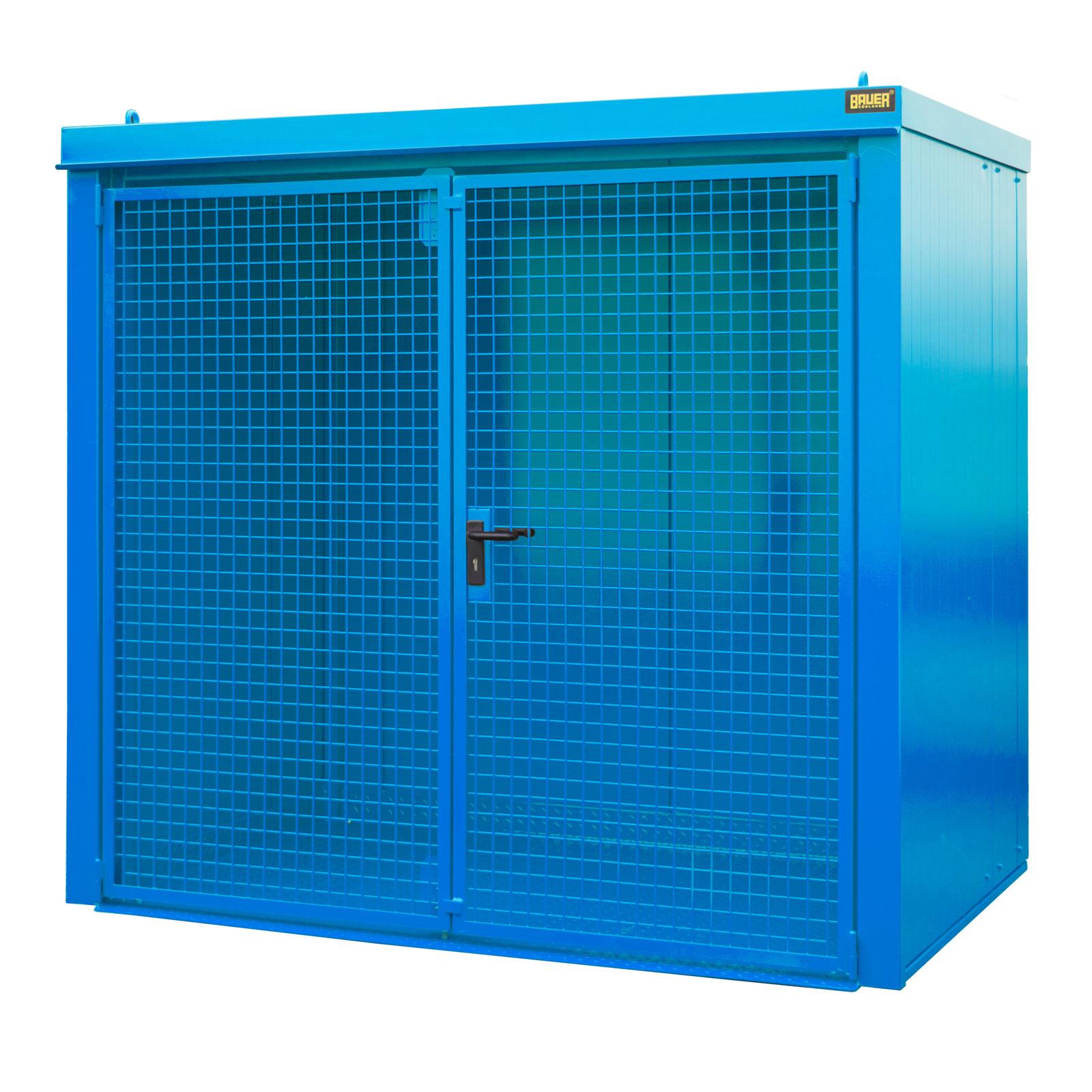 Bauer Gasflaschen-Container GFC-B M3, Lichtblau für 45x Gasflaschen Ø 230 mm 4477-33-0000-3