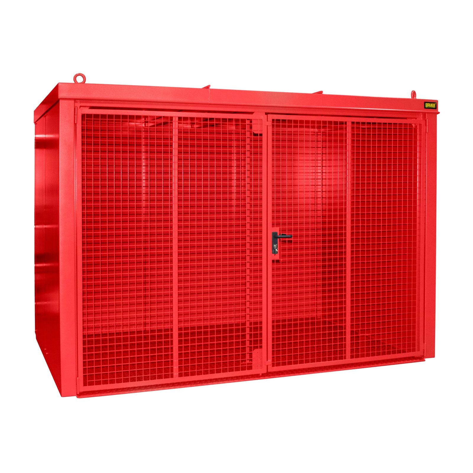 Bauer Gasflaschen-Container GFC-B M4, Feuerrot für 60x Gasflaschen Ø 230 mm 4477-34-0000-2