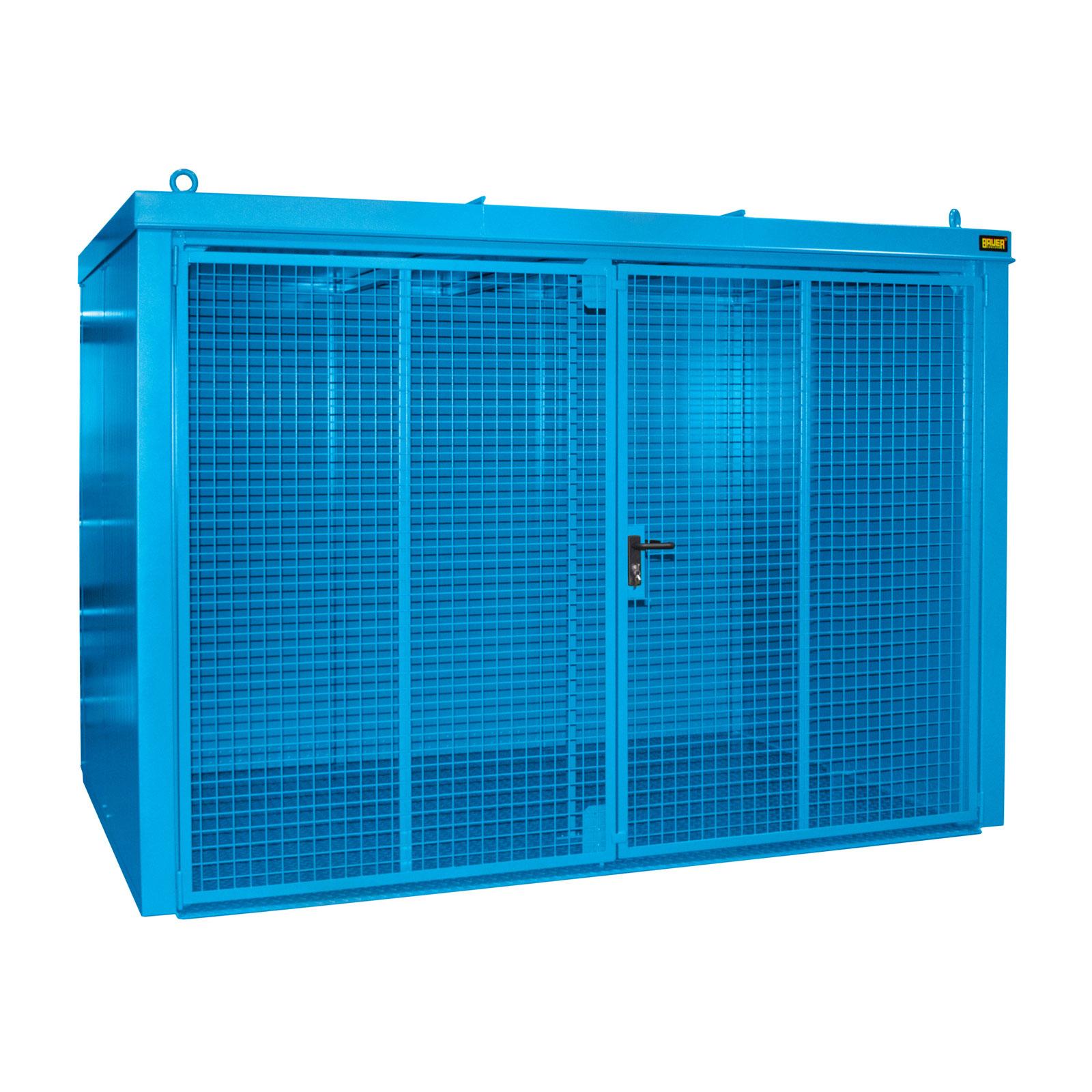 Bauer Gasflaschen-Container GFC-B M4, Lichtblau für 60x Gasflaschen Ø 230 mm 4477-34-0000-3