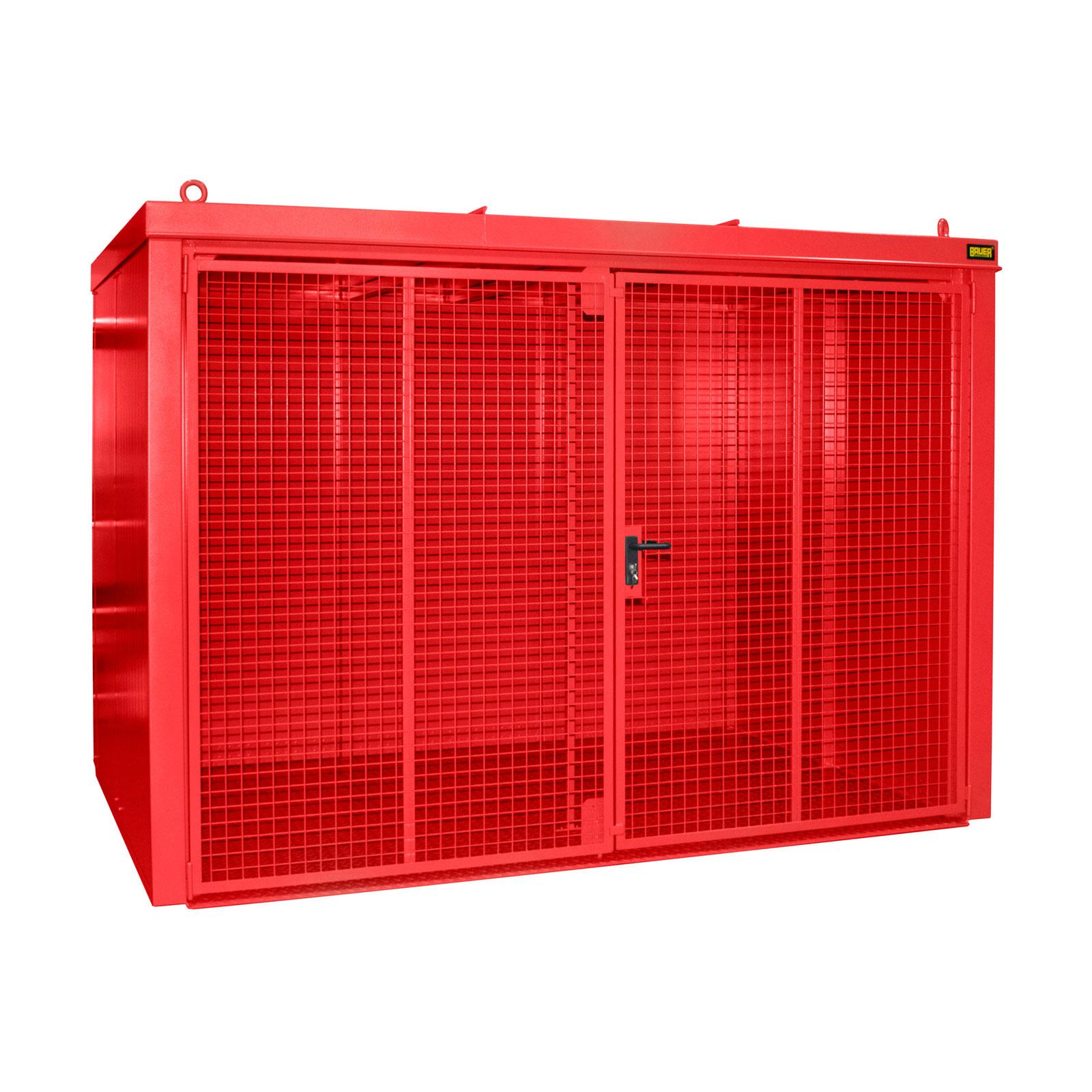 Bauer Gasflaschen-Container GFC-B M5, Feuerrot für 96x Gasflaschen Ø 230 mm 4477-35-0000-2