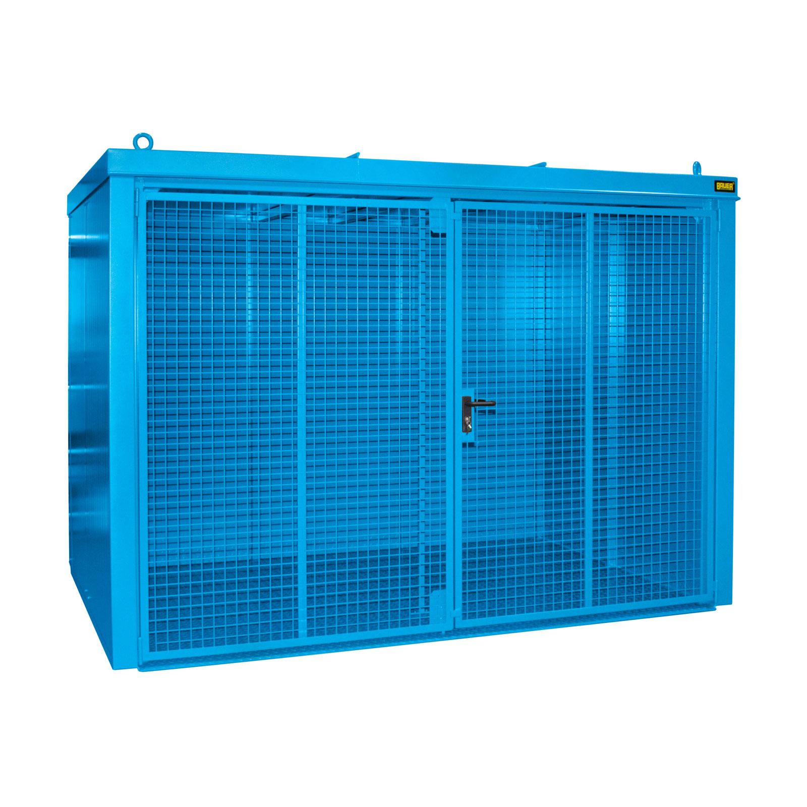 Bauer Gasflaschen-Container GFC-B M5, Lichtblau für 96x Gasflaschen Ø 230 mm 4477-35-0000-3