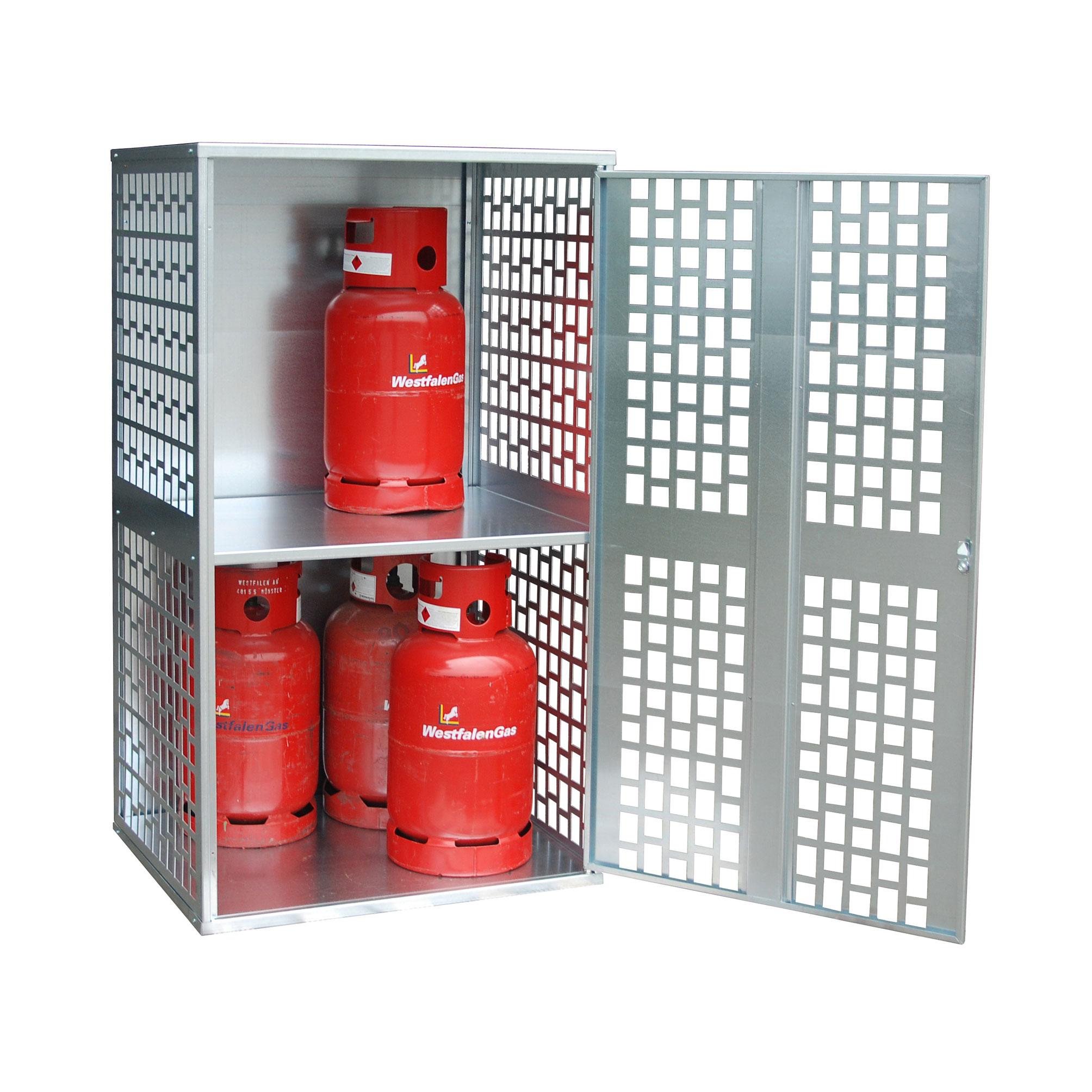 Bauer Gasflaschen-Depot GFD-L 1, verzinkt, 1 Tür, gelocht für 10x 11 kg-Gasflaschen 4495-04-0000-7