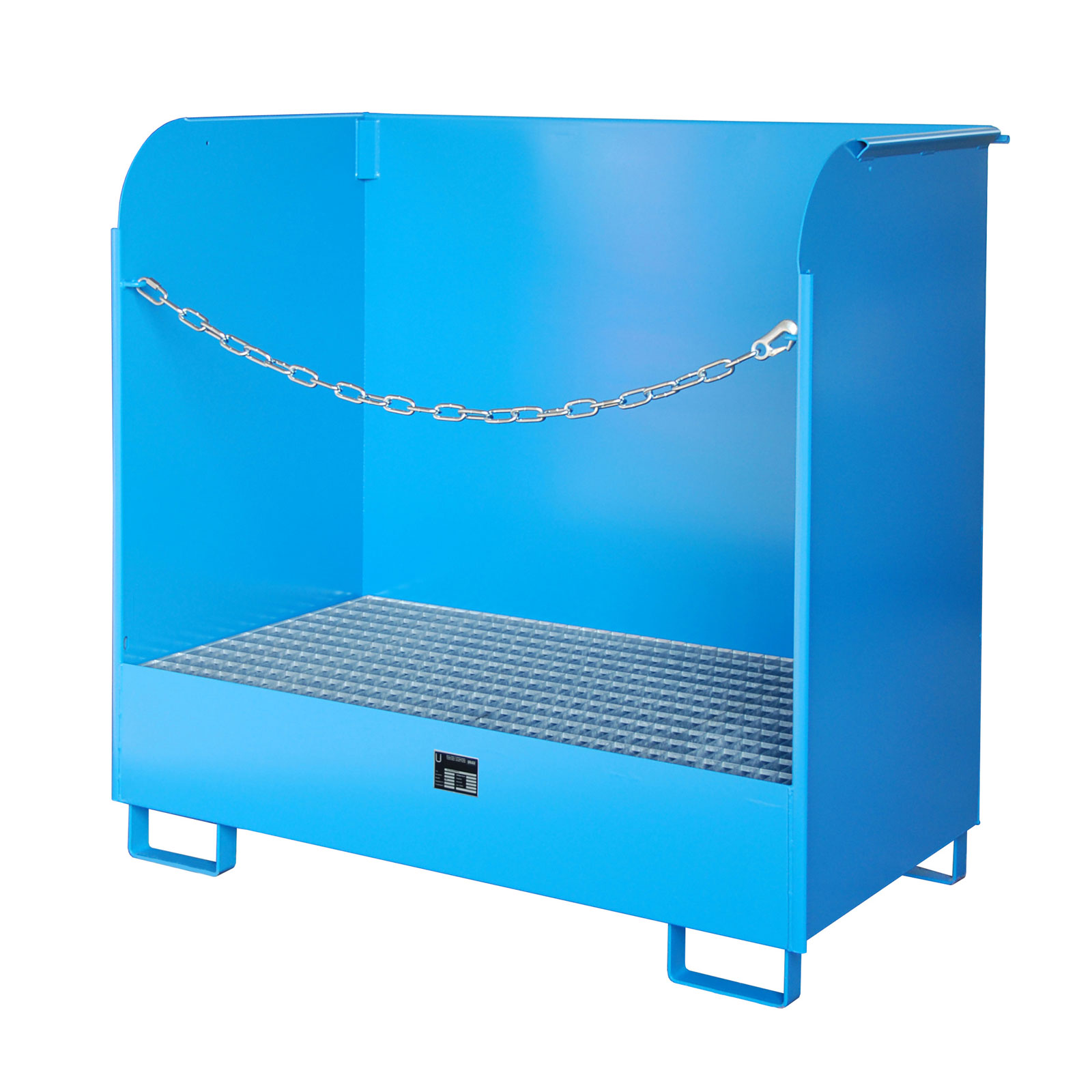 Bauer Gefahrstoff-Depot GD-A für Innenbereich mit Spritzschutzwand, Lichtblau 4416-01-0000-3