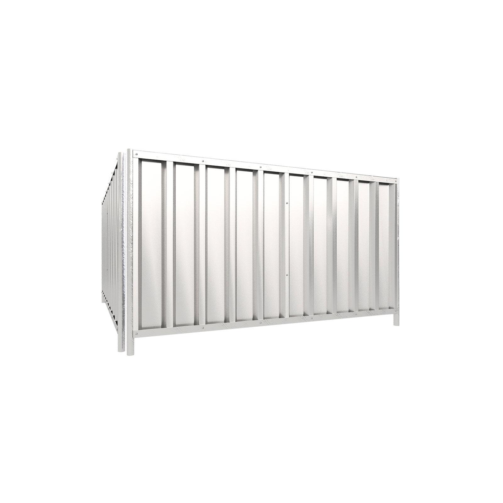 Schake Mobilzaun Trapez 2,2x1,2m mit Stahlblechfüllung, rot 3B1222R