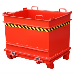 Bauer Baustoffcontainer BC 1000, lackiert, Feuerrot