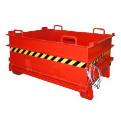 Bauer Baustoffcontainer BC 500 (Steinklammer-Entriegelung), lackiert, Feuerrot