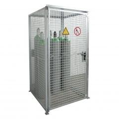 Bauer Gasflaschen-Container GFC-M0/D mit Dach und Flügeltor für 16x Gasflaschen Ø 230 mm