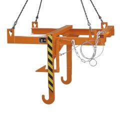 Bauer Kipptraverse für Baustoffbehälter BBT, lackiert, Gelborange