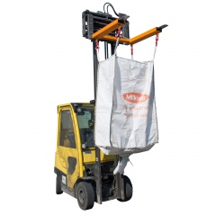 Bauer Traverse für Big-Bags TBB-W mit Wirbellasthaken und Einfahrtaschen