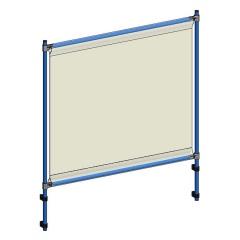 Fetra Anbausatz Infektionsschutzrahmen für Tischwagen mit Holzwerkstoffplatten