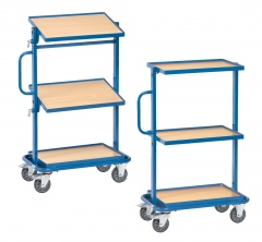 Fetra Beistellwagen mit Holzwerkstoffplatten fest/neigbar