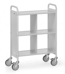 Fetra Bürowagen mit 3 Böden und geschlossenen Seitenwänden und einer Trennwand
