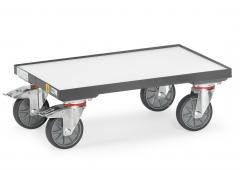Fetra ESD-Eurokasten-Roller mit Bodenplatte, mit Rand 7 mm