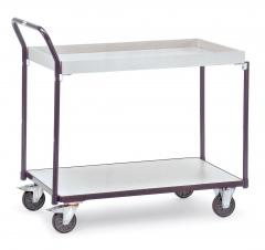 Fetra ESD-Tischwagen mit 1 Boden und 1 Kasten, elektrisch leitfähige Ausführung
