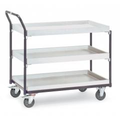 Fetra ESD-Tischwagen mit 3 Kästen, elektrisch leitfähige Ausführung