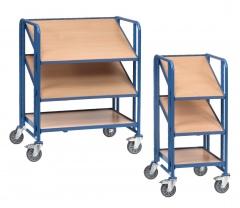 Fetra Eurokastenwagen mit 3 Holzwerkstoffplatten für je 1-2 Eurokästen