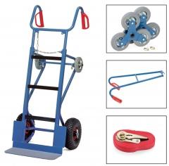 Fetra Gerätekarre komplett mit Lufträdern, Treppensternen, Tragholm u. Spanngurt