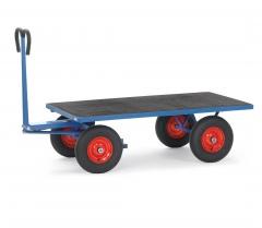 Fetra Handpritschenwagen mit Plattform, Zugöse an der Deichsel Vollgummi-Bereifung 1200x800 mm