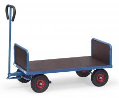 Fetra Handwagen mit 2 Stirnwänden Vollgummibereifung