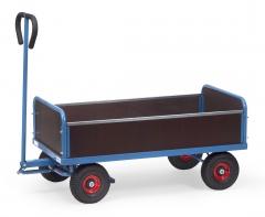 Fetra Handwagen mit 4 Wänden Vollgummibereifung, 500kg Tragkraft