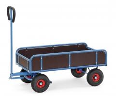 Fetra Handwagen mit 4 Wänden Vollgummibereifung, 400kg Tragkraft