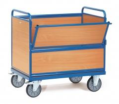 Fetra Holzkastenwagen mit Wänden und Boden aus Holz
