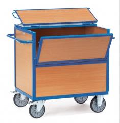 Fetra Holzkastenwagen mit Wänden, Boden und Decke aus Holz