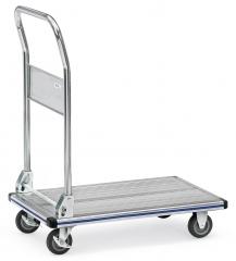 Fetra Alu-Plattformwagen mit klappbarem Rohrschiebebügel