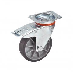 Fetra TPE Lenkrolle mit Feststeller, 125x32 mm Radgröße