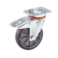 Fetra TPE-ESD Lenkrolle mit Feststeller, 125x32 mm Radgröße