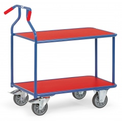 Fetra Optiliner-Tischwagen klappbar blau/rot