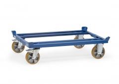 Fetra Palettenfahrgestelle für Gitterboxen und Flachpaletten mit Elastic-Vollgummi-Rädern
