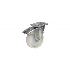 Fetra Vollgummi Lenkrolle mit Feststeller, 125x38 mm Radgröße