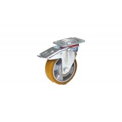 Fetra Polyurethan Lenkrolle mit Feststeller, 125x40 mm Radgröße