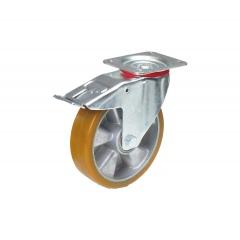 Fetra Polyurethan Lenkrolle mit Feststeller, 200x50 mm Radgröße