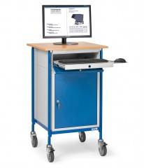 Fetra Rollpult mit waagerechter Schreibfläche und Stahlschrank
