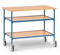 Fetra Rolltisch mit Ablageböden und Tischfläche