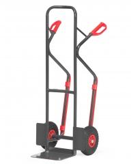 Fetra Stahlrohrkarre mit Stahlblechschaufel Grey Edition