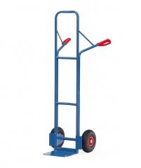 Fetra Stahlrohrkarre mit Vollgummibereifung Höhe 1600 mm, 320mm Schaufelbreite