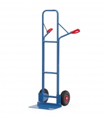 Fetra Stahlrohrkarre mit Vollgummibereifung Höhe 1600 mm, 480mm Schaufelbreite
