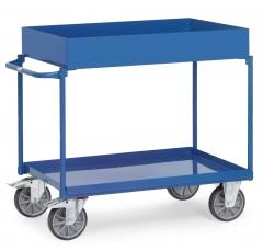 Fetra Tischwagen mit Stahlblechwannen 2 Etagen