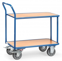 Fetra Tischwagen 2 Etagen, 400kg Tragkraft 850x500mm Ladefläche