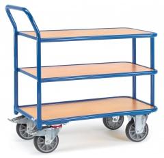 Fetra Tischwagen 3 Etagen 400kg Tragkraft, 850x500mm Ladefläche